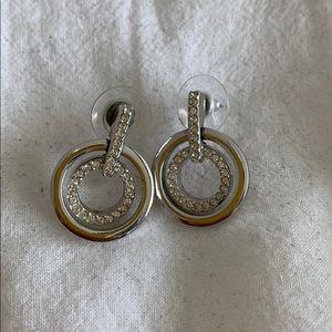 Swarovski circle earrings